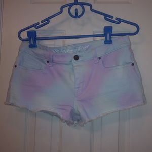 Victoria Secret's boyfriend shorts tie dye